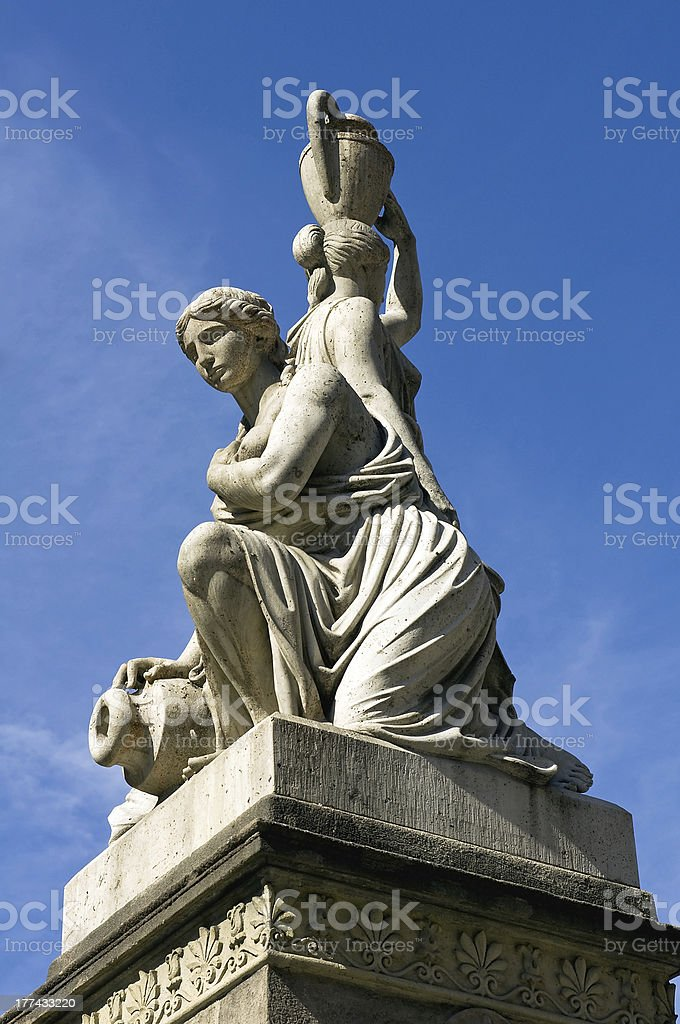 Nereids fountain in Budapest stock photo