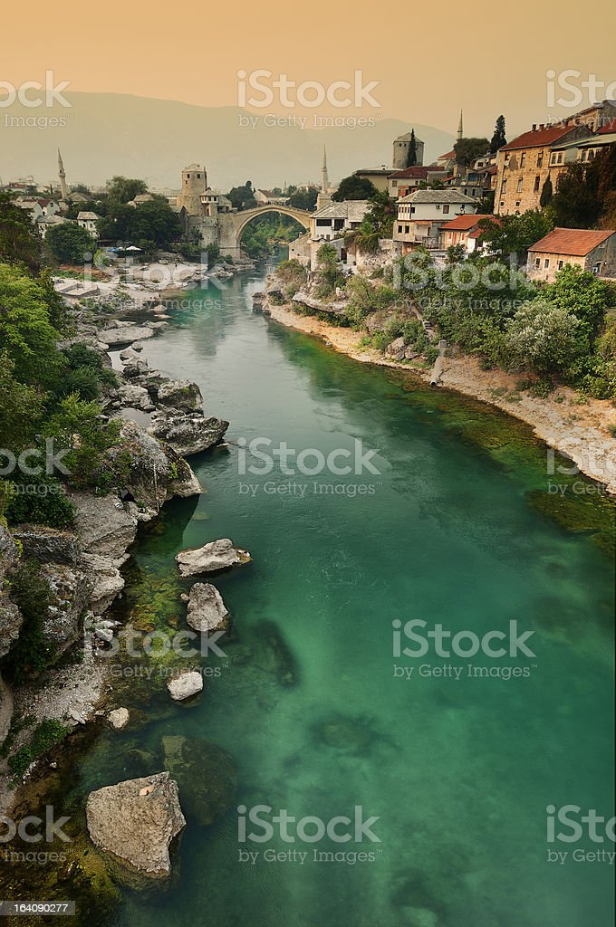 Neretva, Mostar stock photo