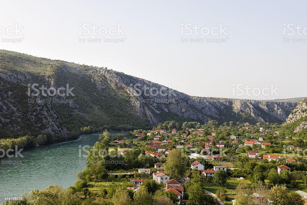 Neretva valley stock photo