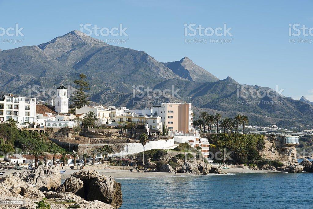 Nerja , Costa del Sol , Province of Malaga , Andalusia, Spain stock photo