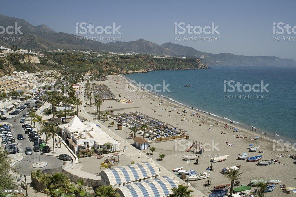 Nerja Spain - Burriana Beach stock photo