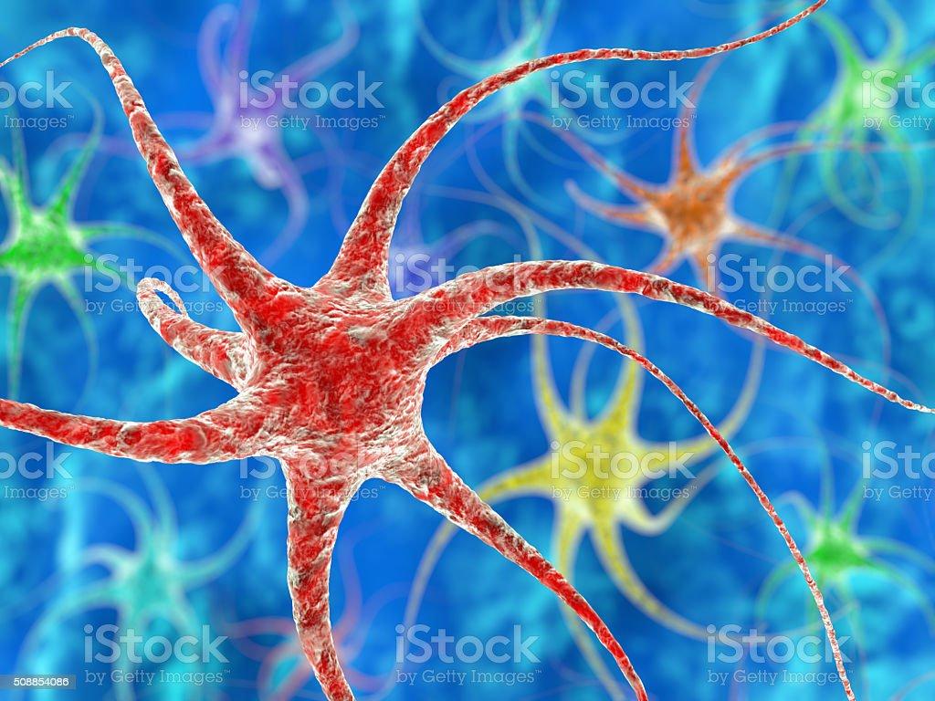 Nerve cell illustration stock photo