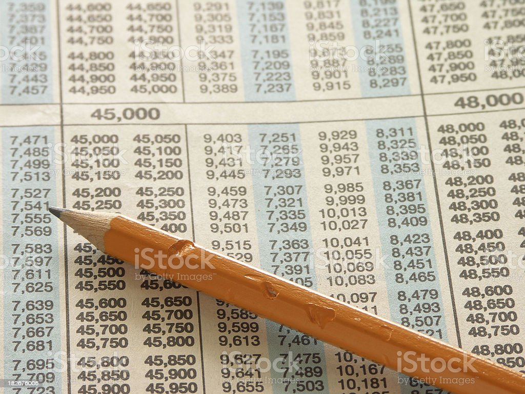 nerve tax stock photo