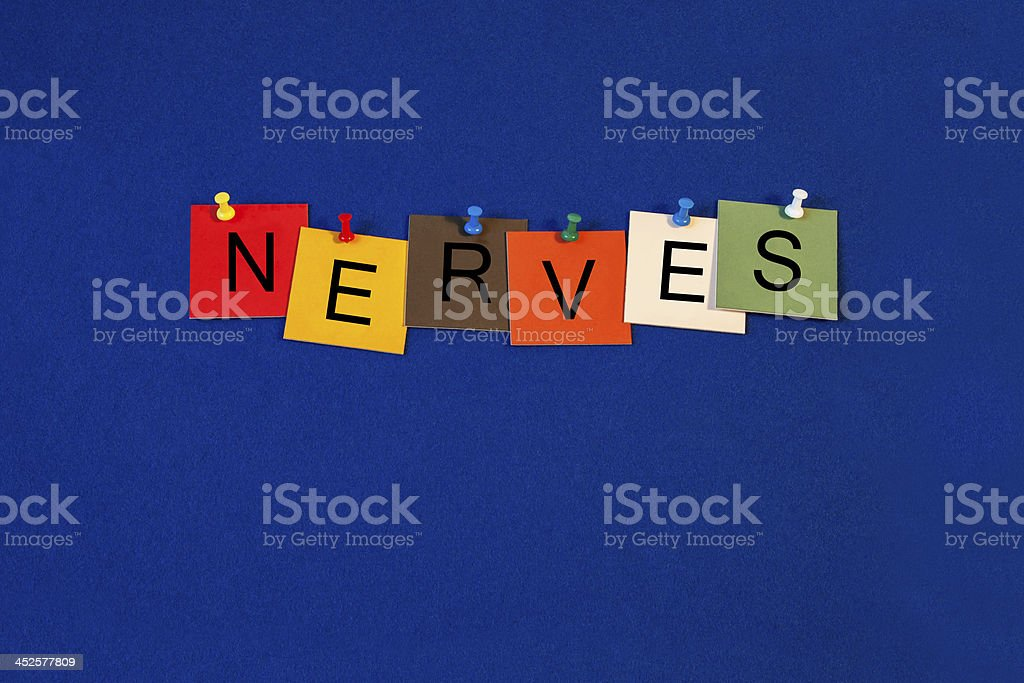 Nerves -  sign for business, biology and medical health care royalty-free stock photo