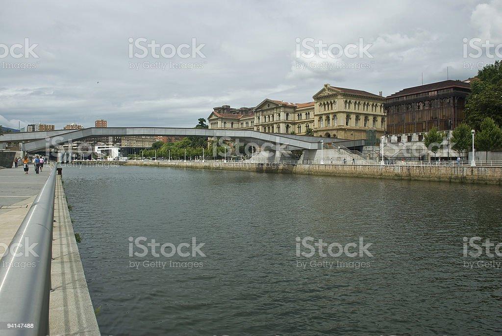 Nervion River in Bilbao, stock photo