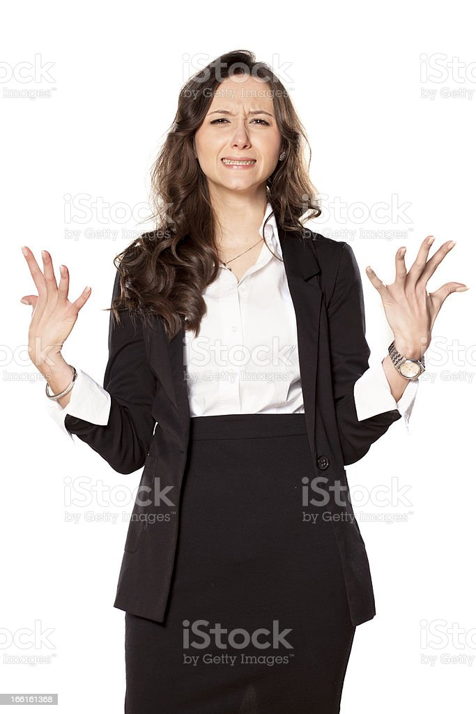 nervous and angry royalty-free stock photo
