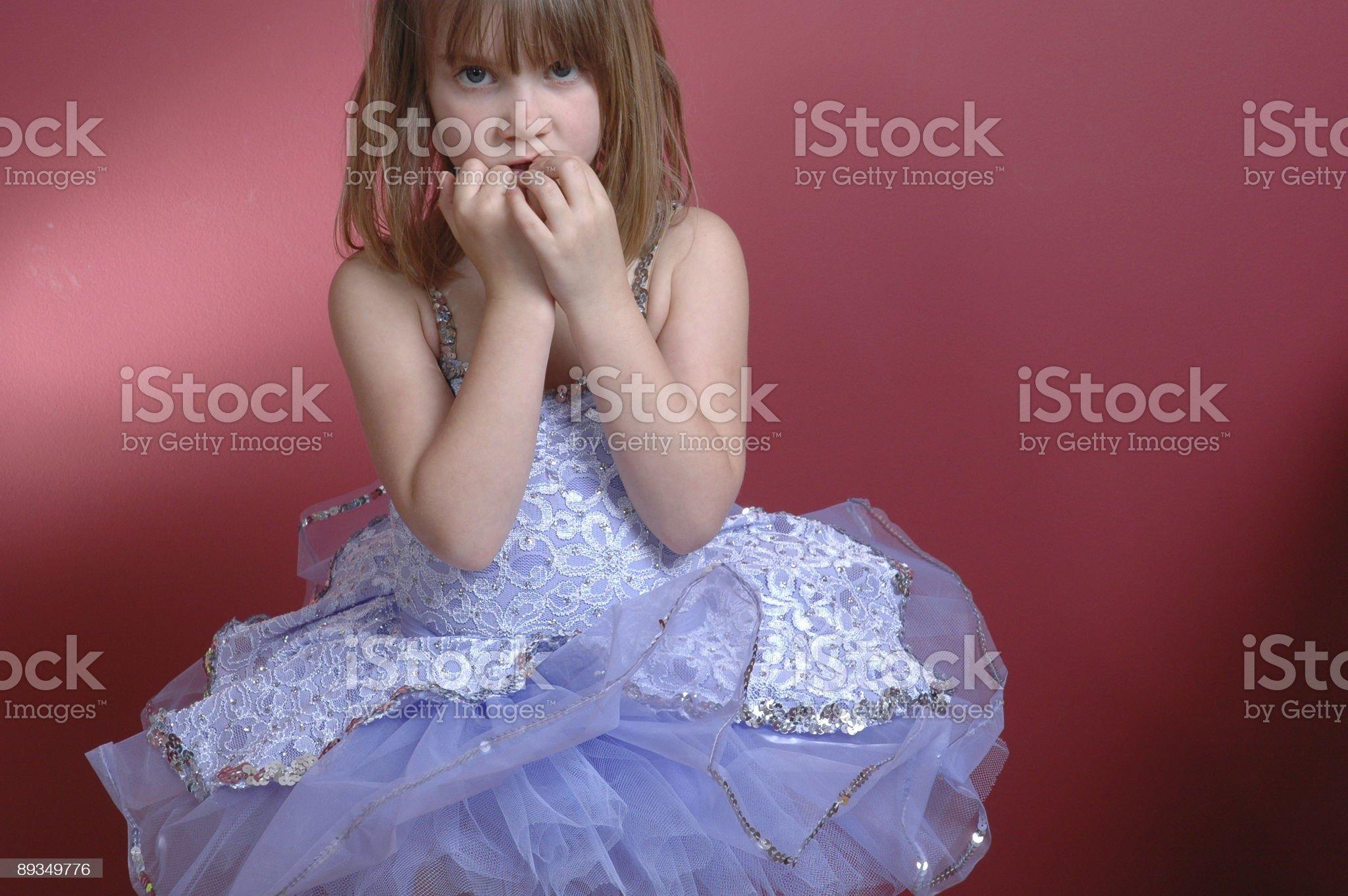 Nervous Ballerina royalty-free stock photo