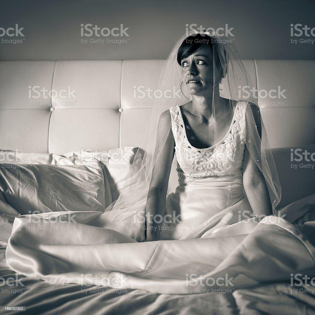 Nervous Bride royalty-free stock photo