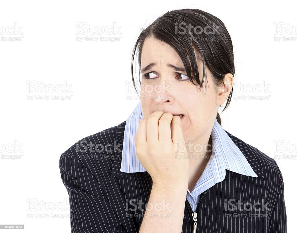 Nervous Business woman royalty-free stock photo