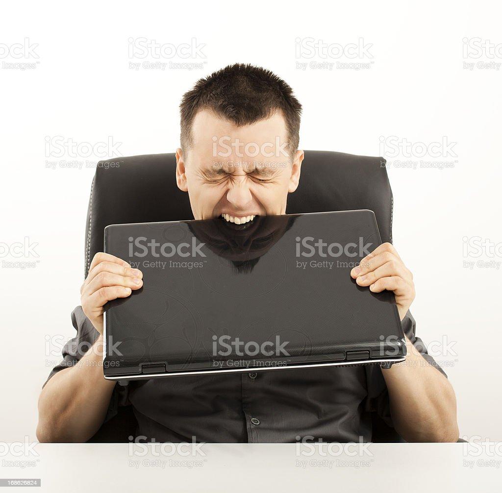 Nervous businessman royalty-free stock photo