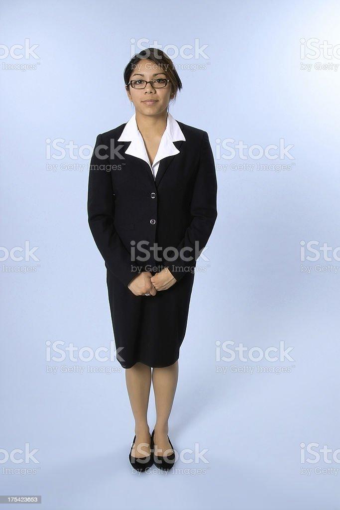 Nervous Businesswoman royalty-free stock photo
