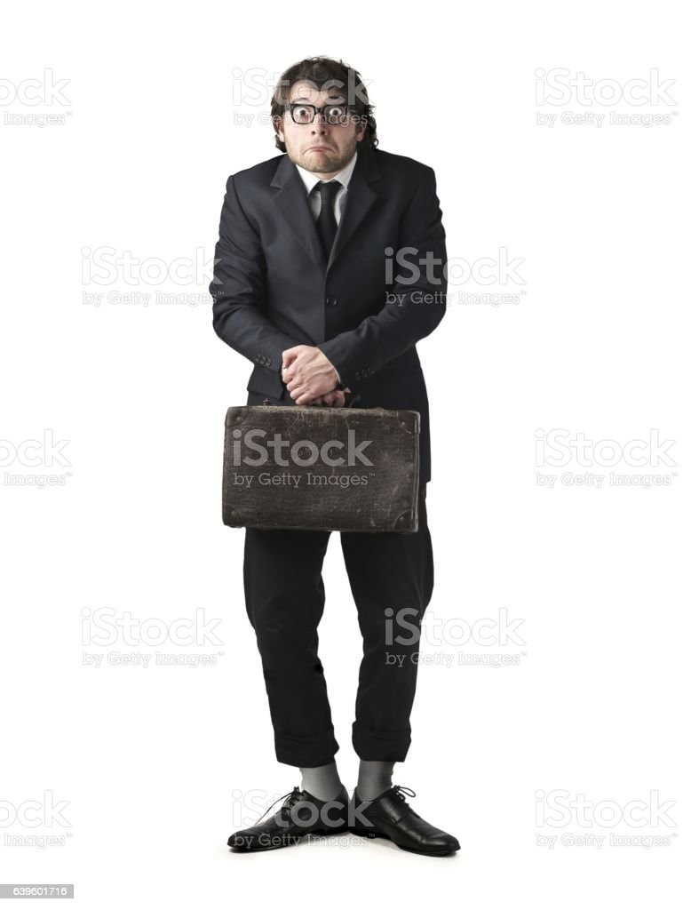 Nervous stock photo