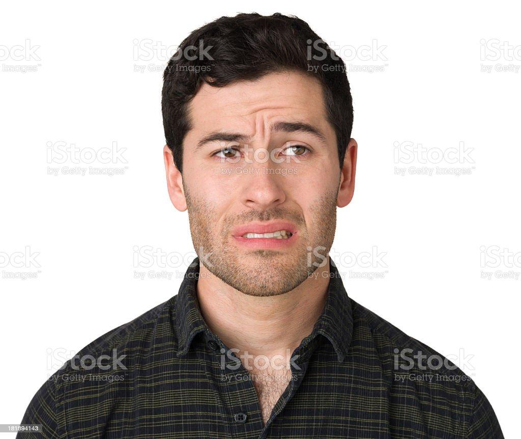 Nervous Young Man stock photo