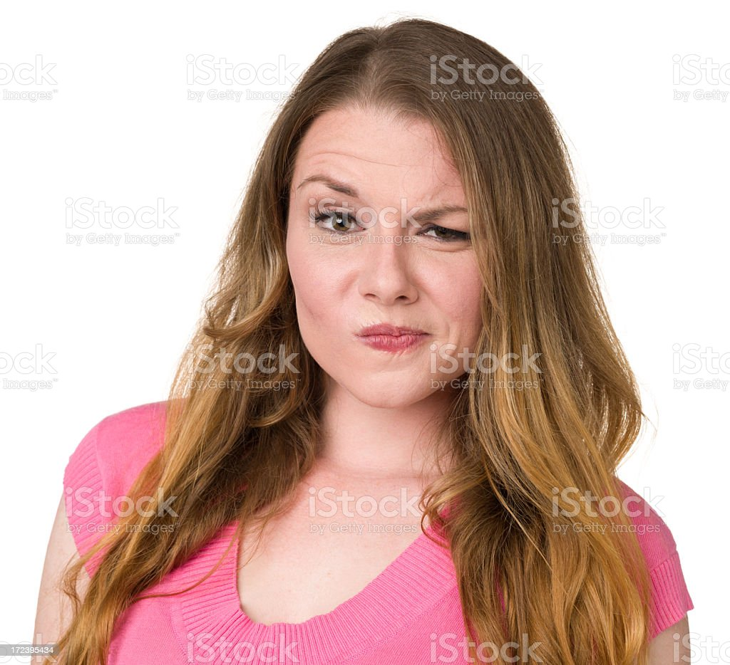 Nervous Young Woman royalty-free stock photo