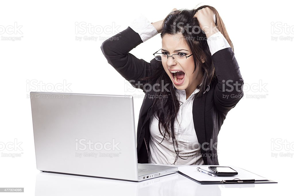 nervousness at work stock photo