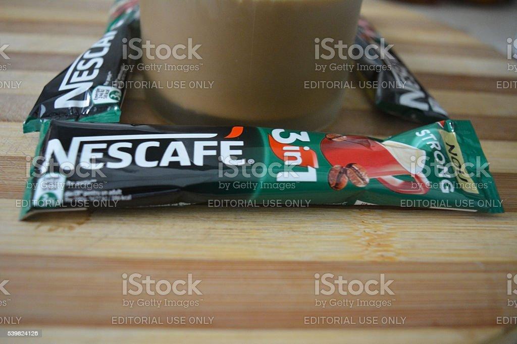 Nescafe 3 in 1 stock photo