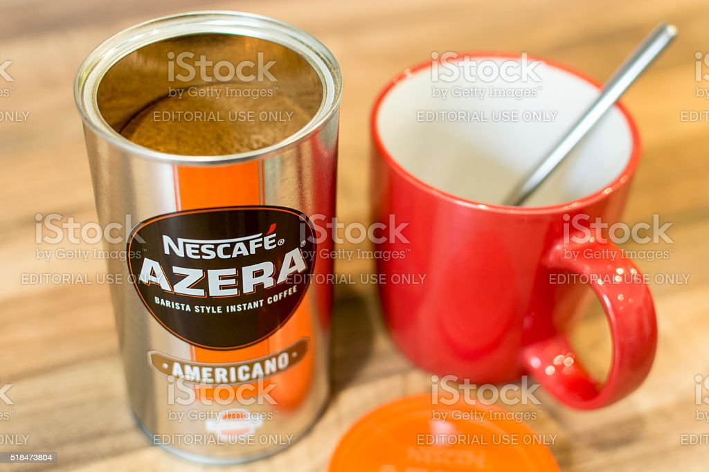 Nescafe Azera Lid Off stock photo
