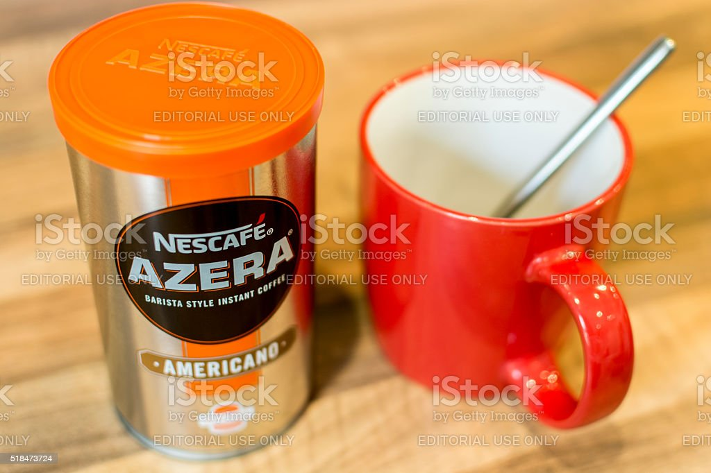 Nescafe Azera stock photo