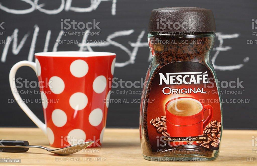 Nescafe Original Coffee stock photo