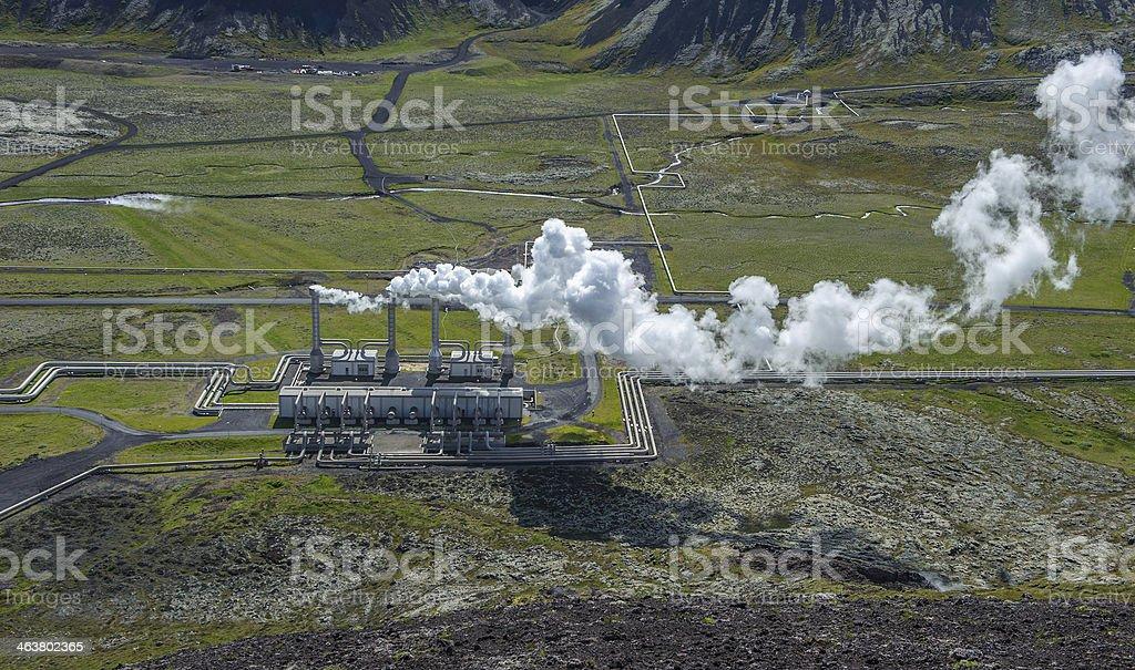 Nesjavellir geothermal power station, Iceland stock photo