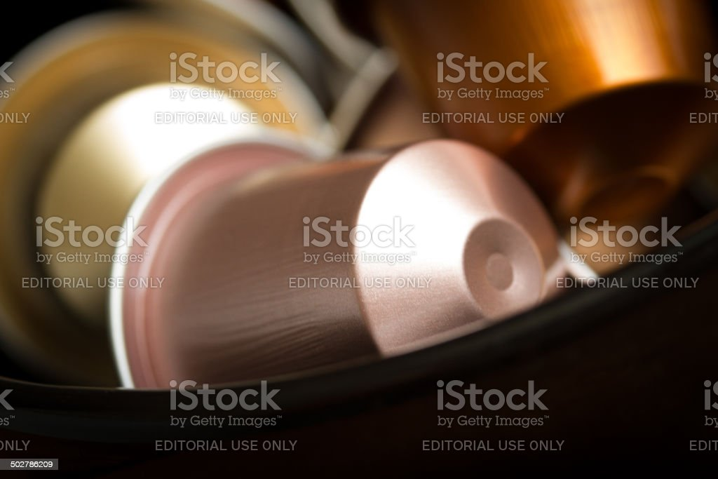 Nespresso capsule stock photo