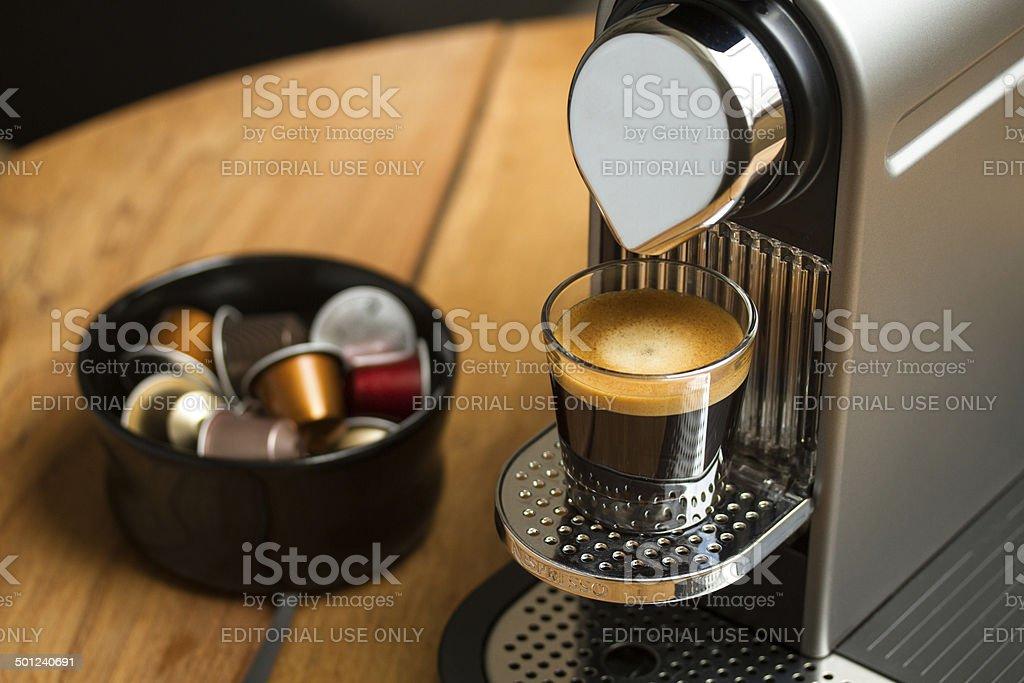 Nespresso coffe stock photo
