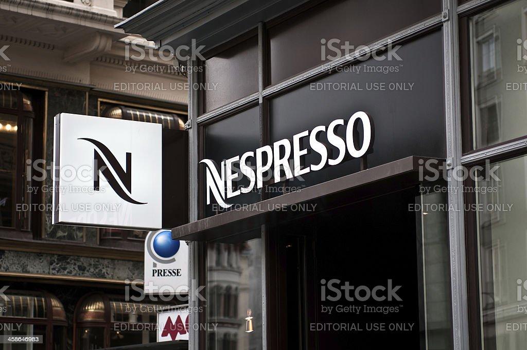 Nespresso coffe shop in Wien stock photo