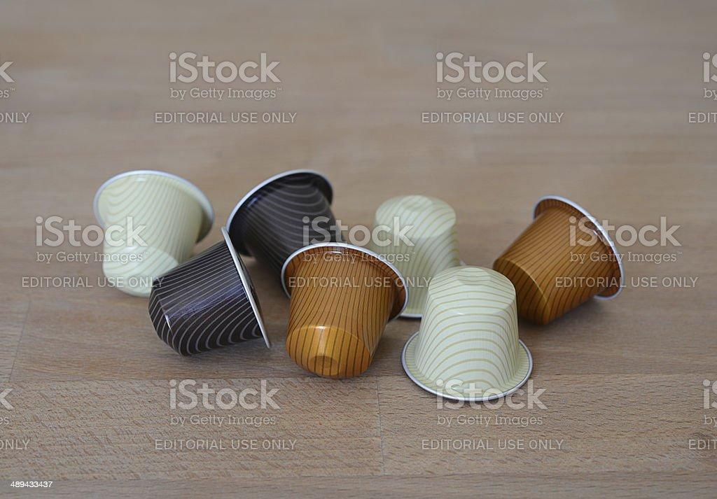 Nespresso Coffee Capsules stock photo