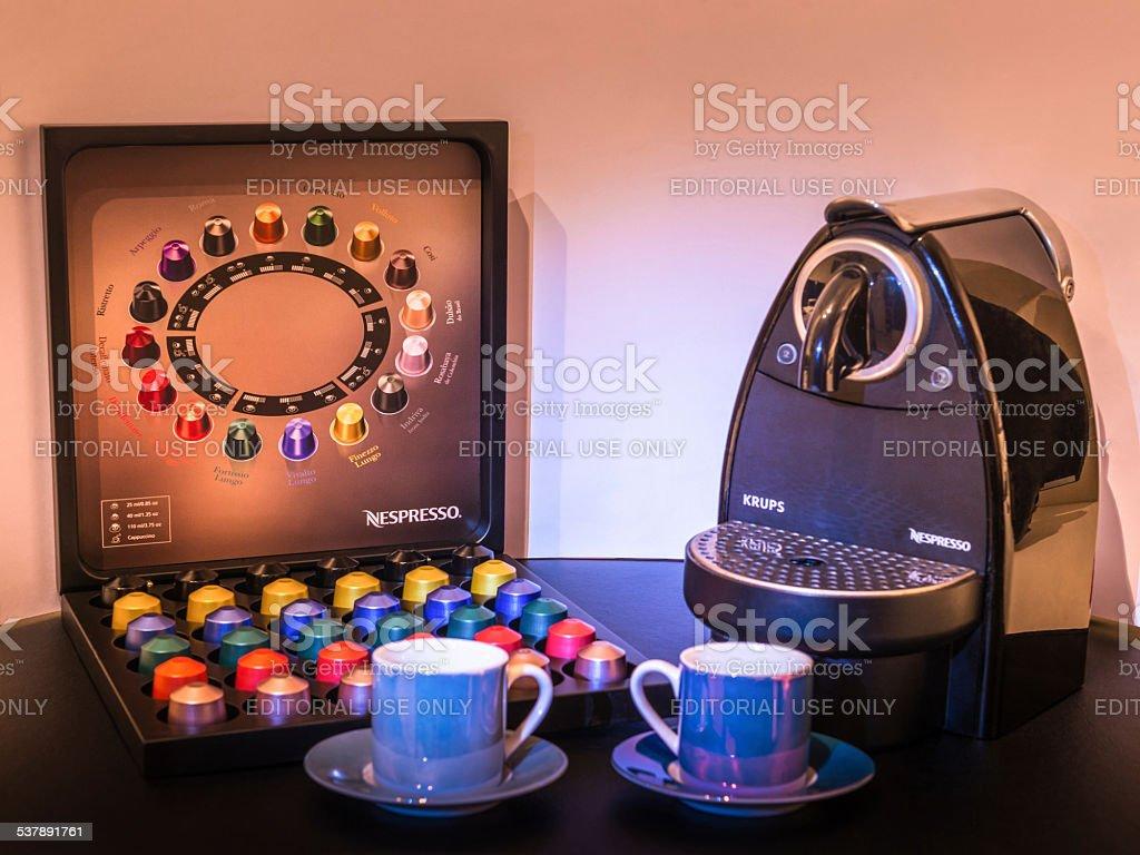 Nespresso plans series of high street coffee shops stock photo