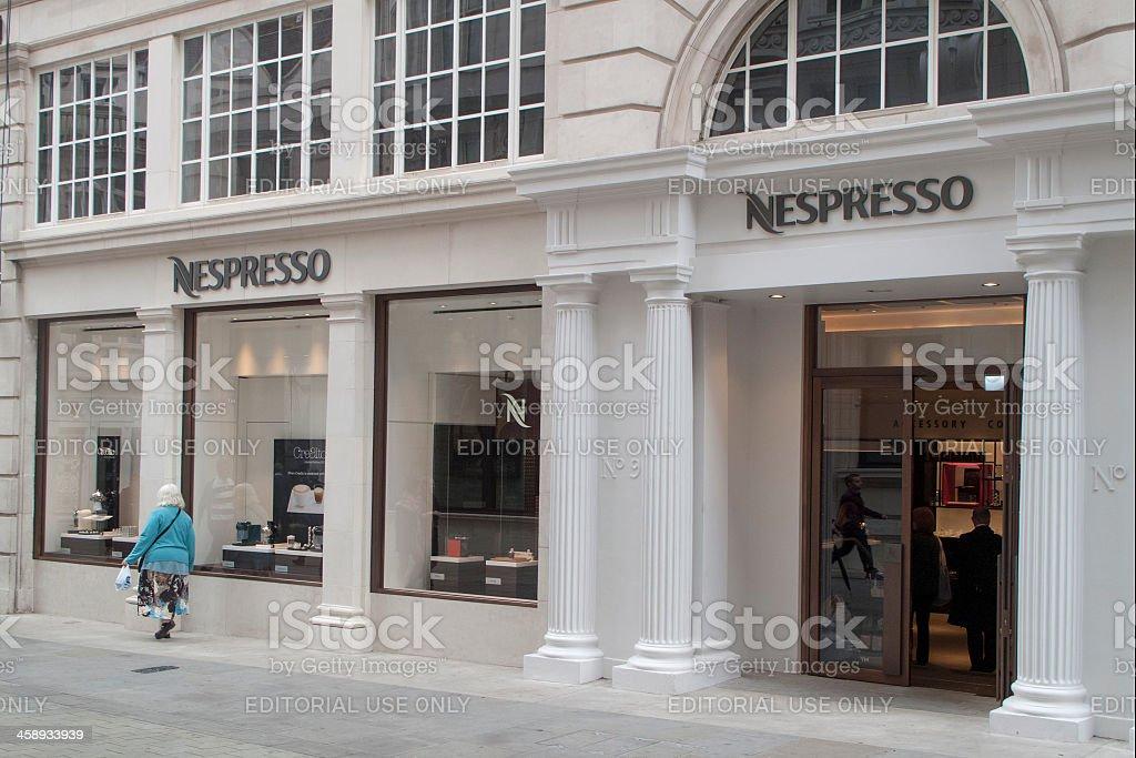 Nespresso shop in London stock photo