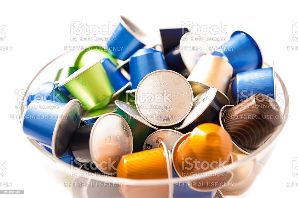Nespressso Coffee Capsules stock photo