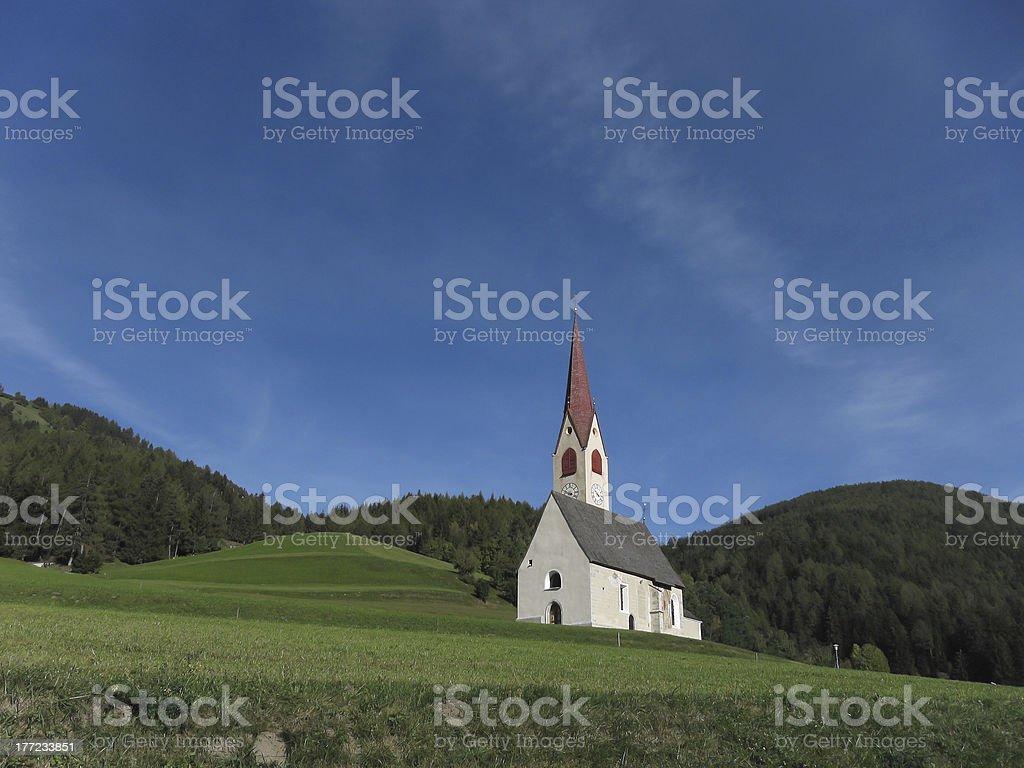 Nessano chapel stock photo