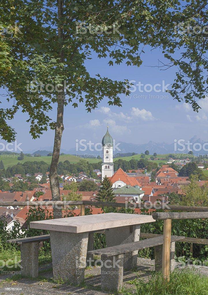 Nesselwang in Allgau,Bavaria,Germany stock photo