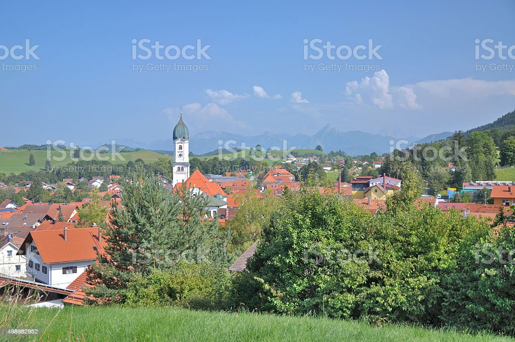 Nesselwang,Allgaeu,Bavaria,Germany stock photo