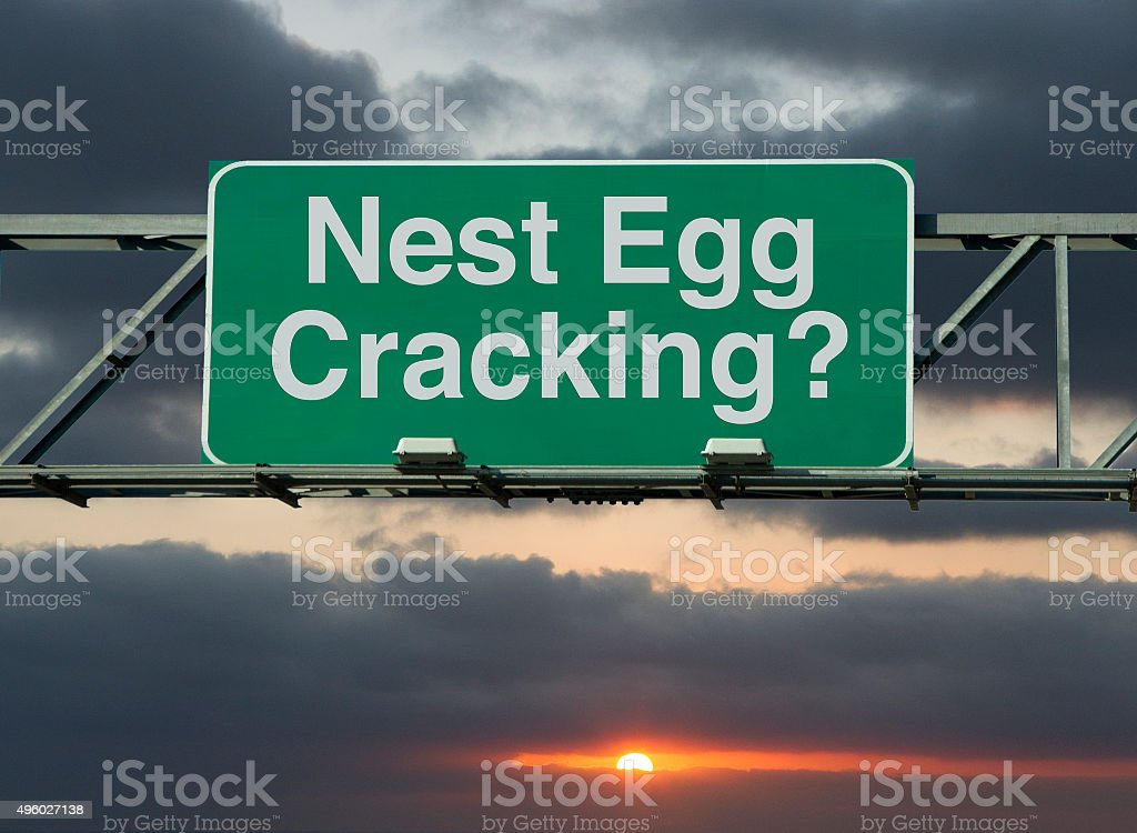 Nest Egg Cracking? stock photo