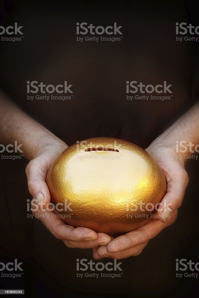 Nest Egg in Hand royalty-free stock photo