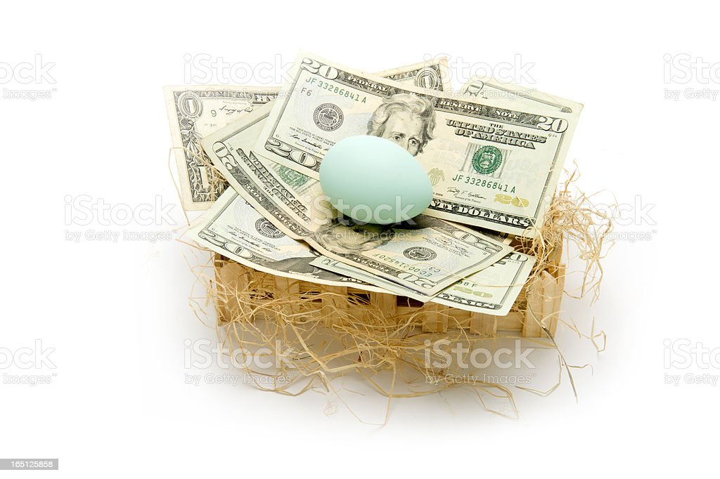Nest egg is looking good! royalty-free stock photo