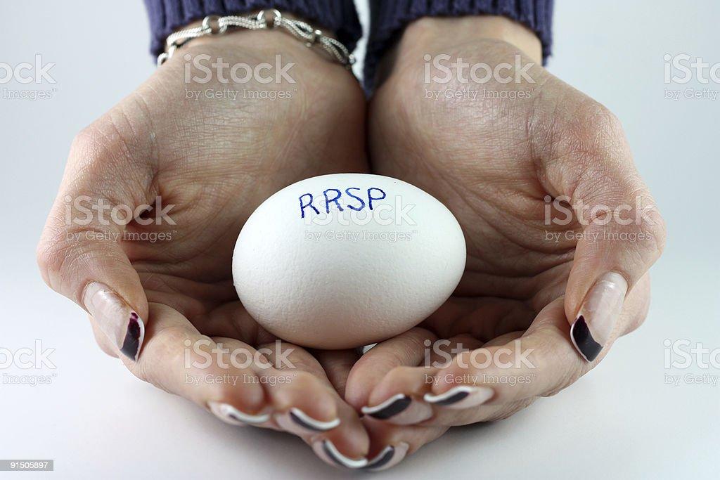 RRSP Nest Egg stock photo