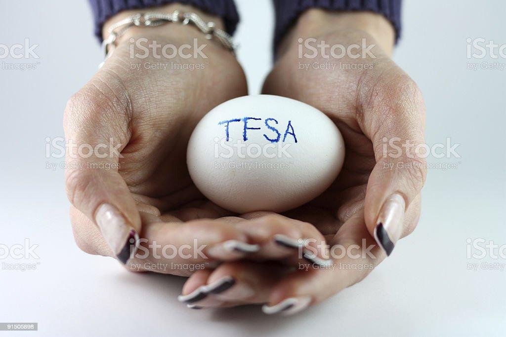 TFSA Nest Egg stock photo