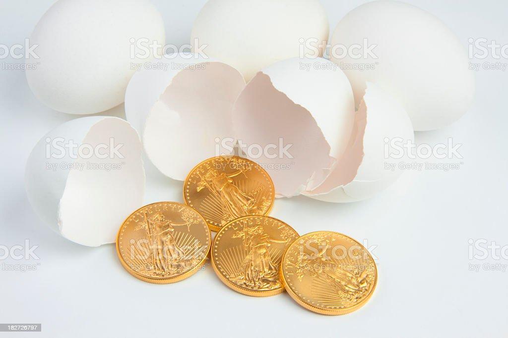 Nest Egg Savings stock photo