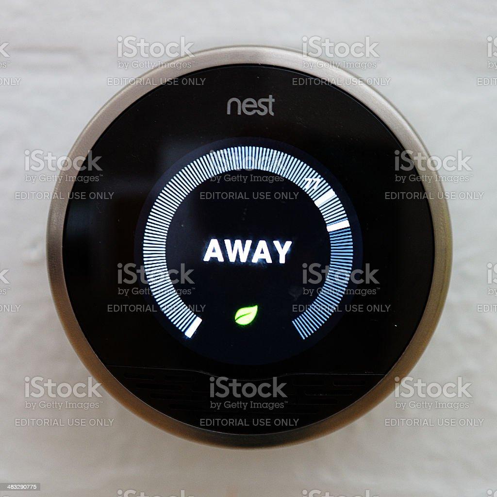 Nest thermostat stock photo