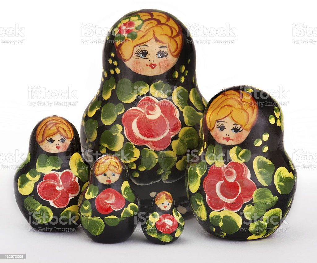 nested dolls Matryoshka royalty-free stock photo
