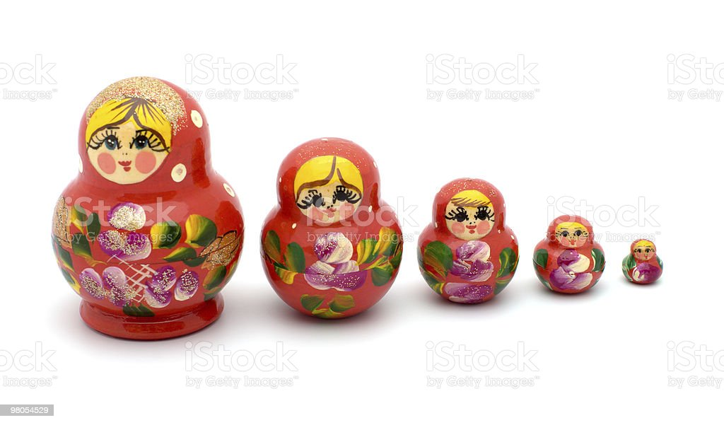 Nested dolls. royalty-free stock photo