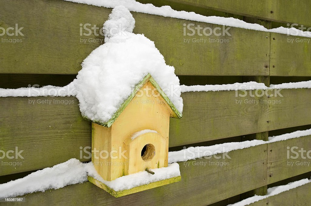 Nesting Box with Snow royalty-free stock photo