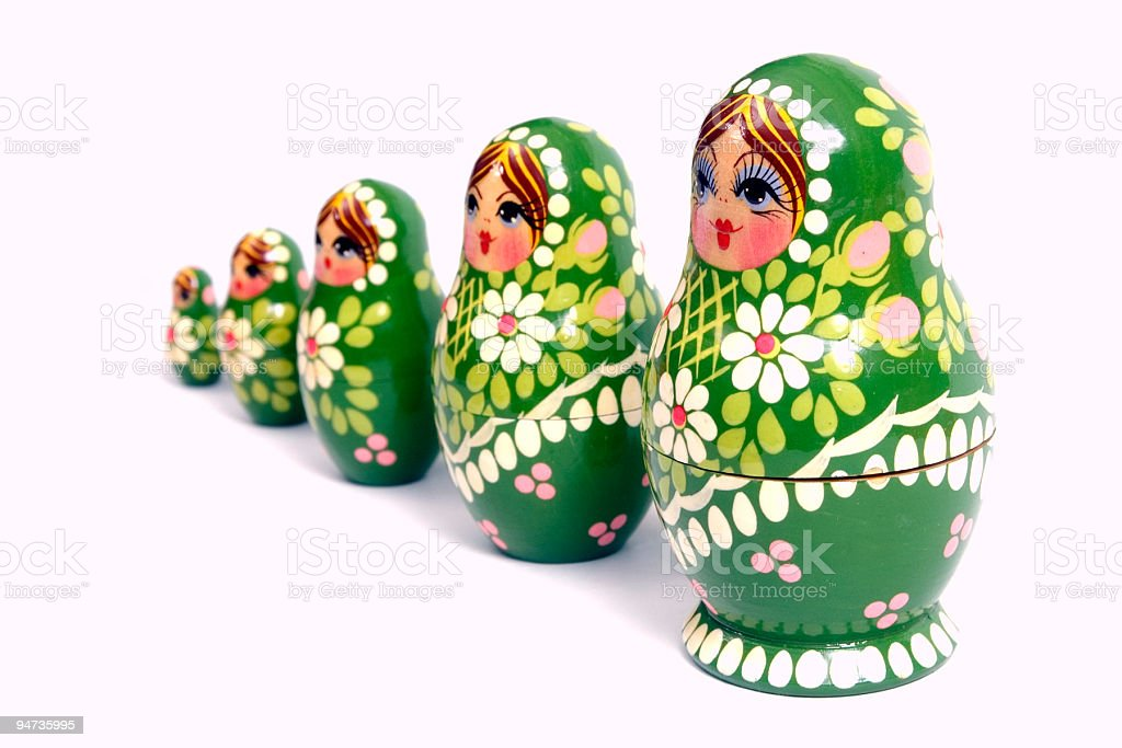 Nesting doll toy royalty-free stock photo