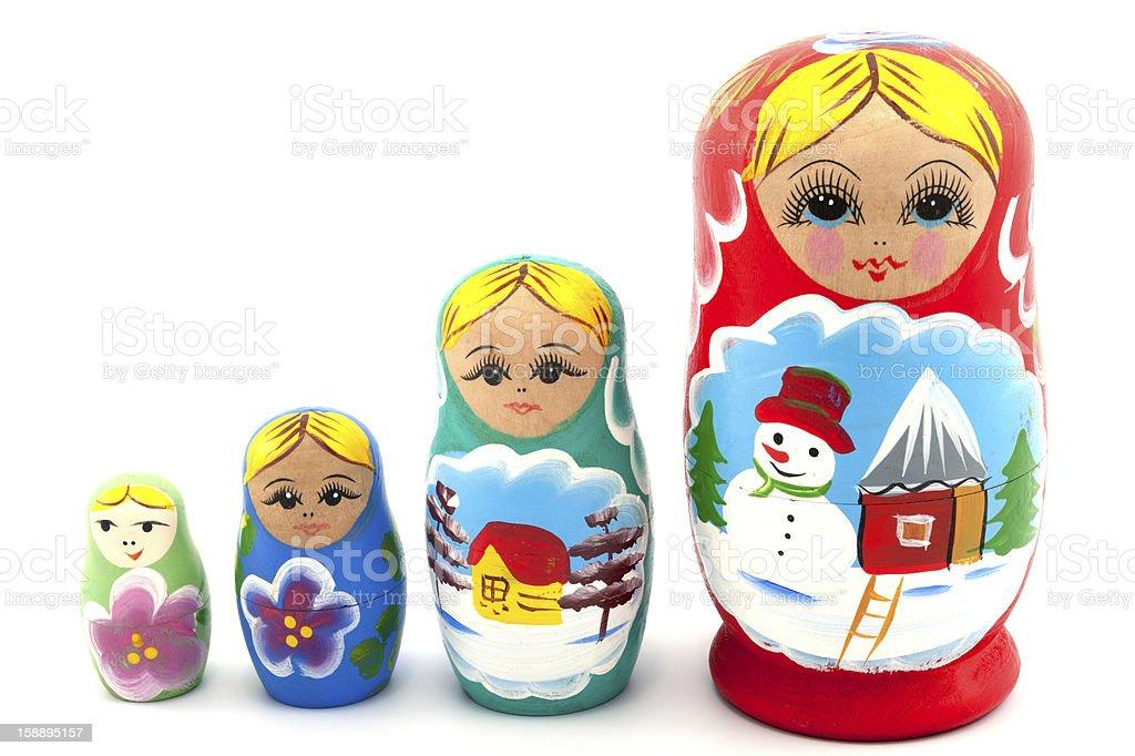Nesting Dolls royalty-free stock photo