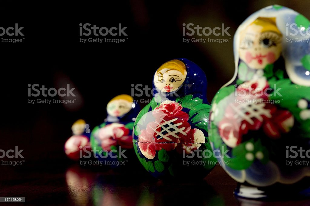 Nesting Dolls royalty-free stock photo