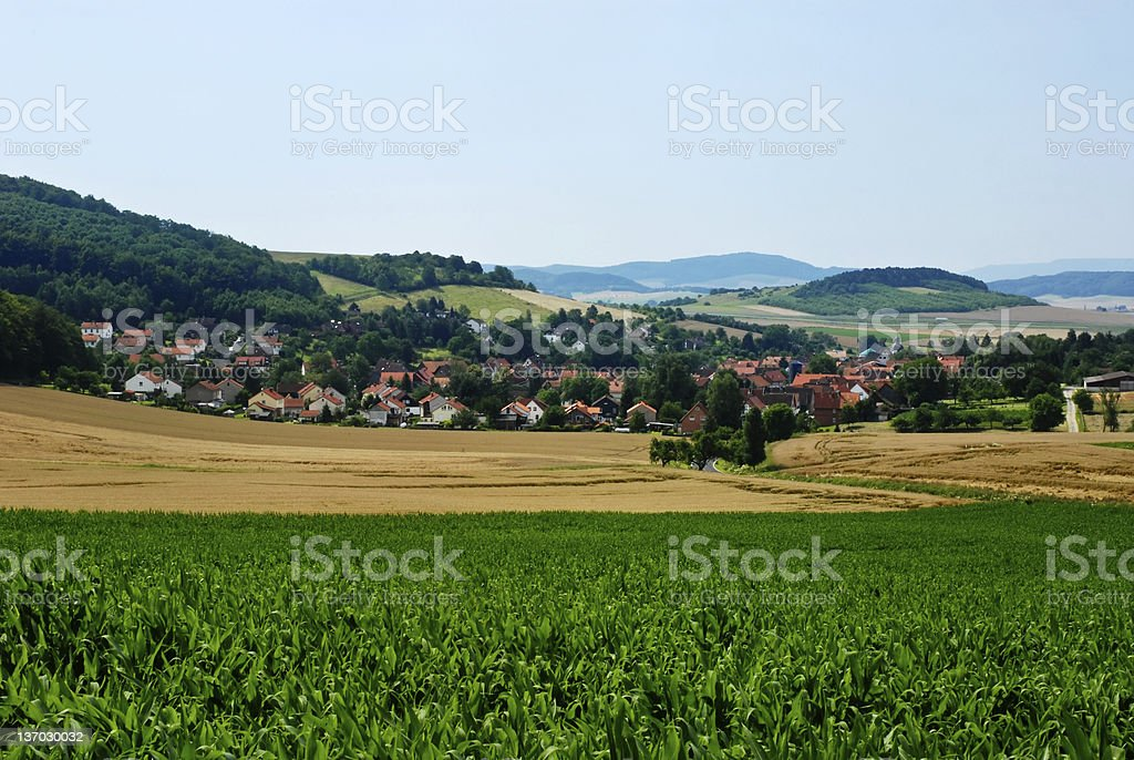 Nestled Village stock photo
