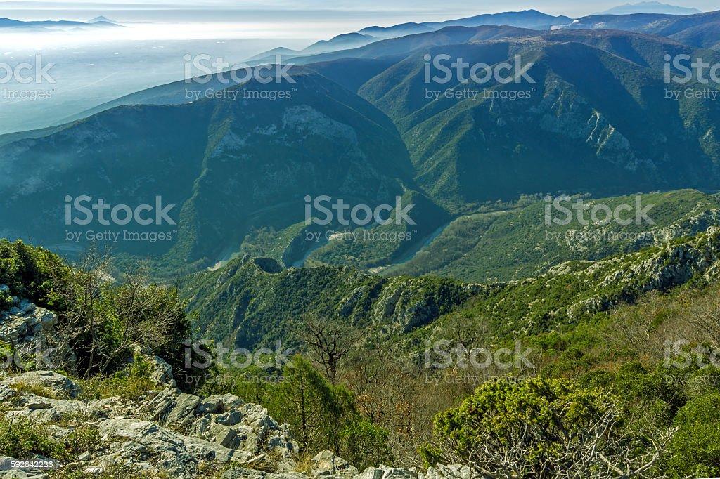 Nestos Gorge near town of Xanthi, Greece stock photo