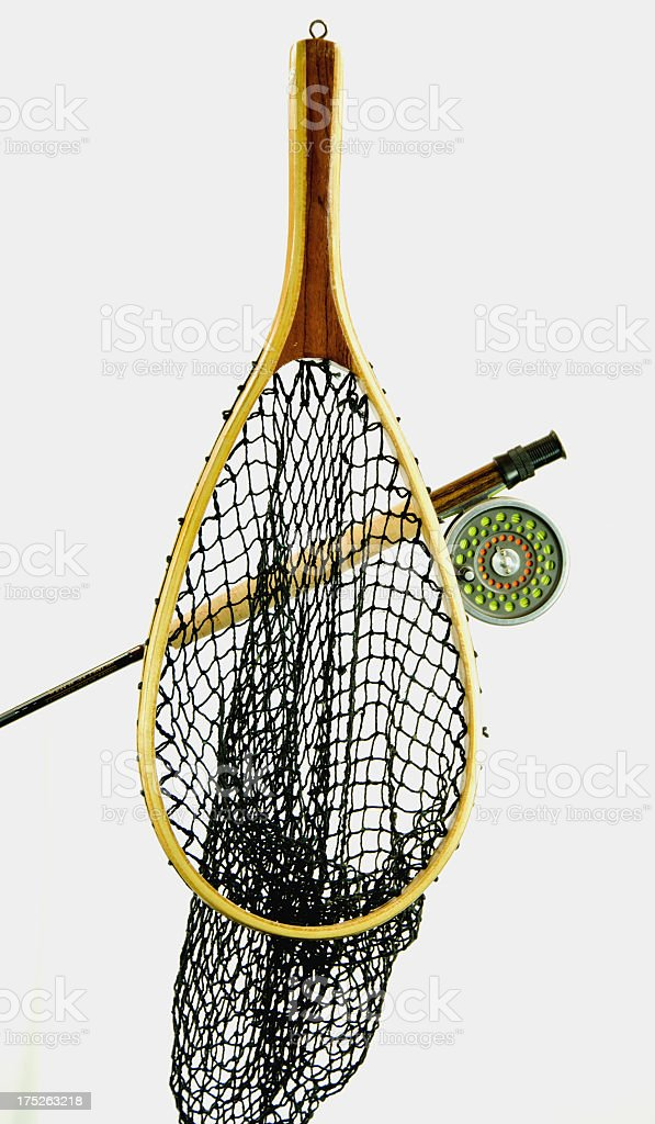 Net and Fly Rod royalty-free stock photo